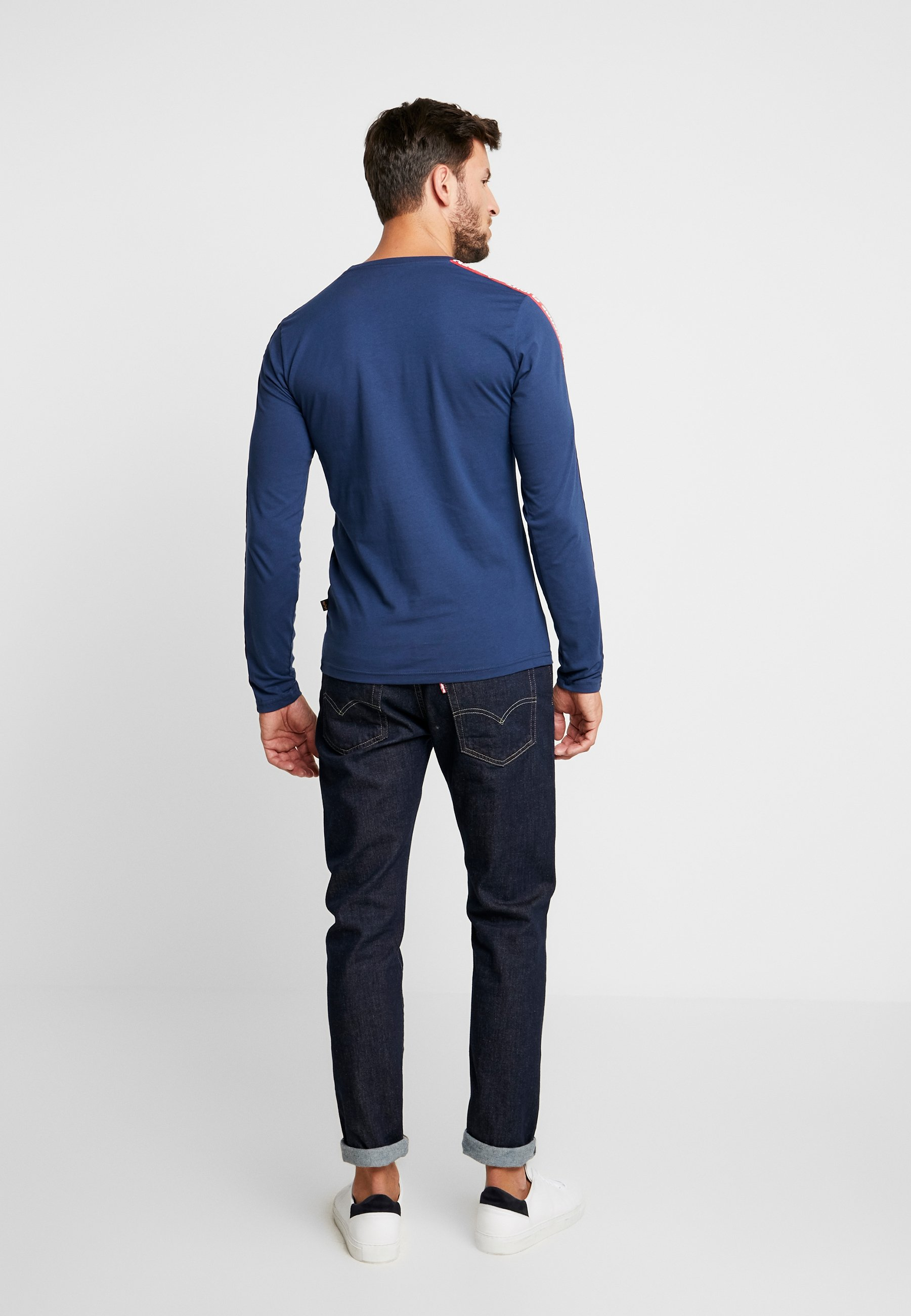 Industries À shirt Alpha New TapeT Longues Navy Manches 7gyb6fY
