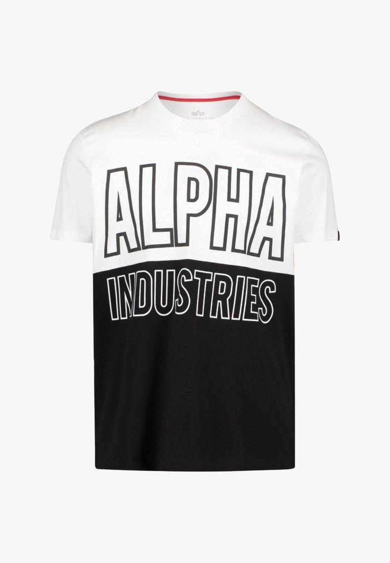 Alpha Industries - BLOCK-T - T-Shirt print - white