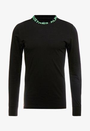 T-shirt à manches longues - black/neon green