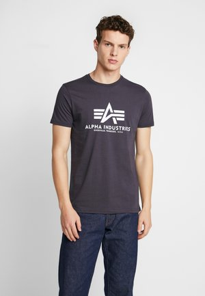 T-shirt med print - iron grey