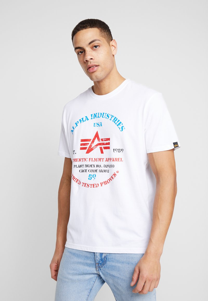 Alpha Industries - T-shirts print - white