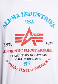 Alpha Industries - T-shirts print - white - 3