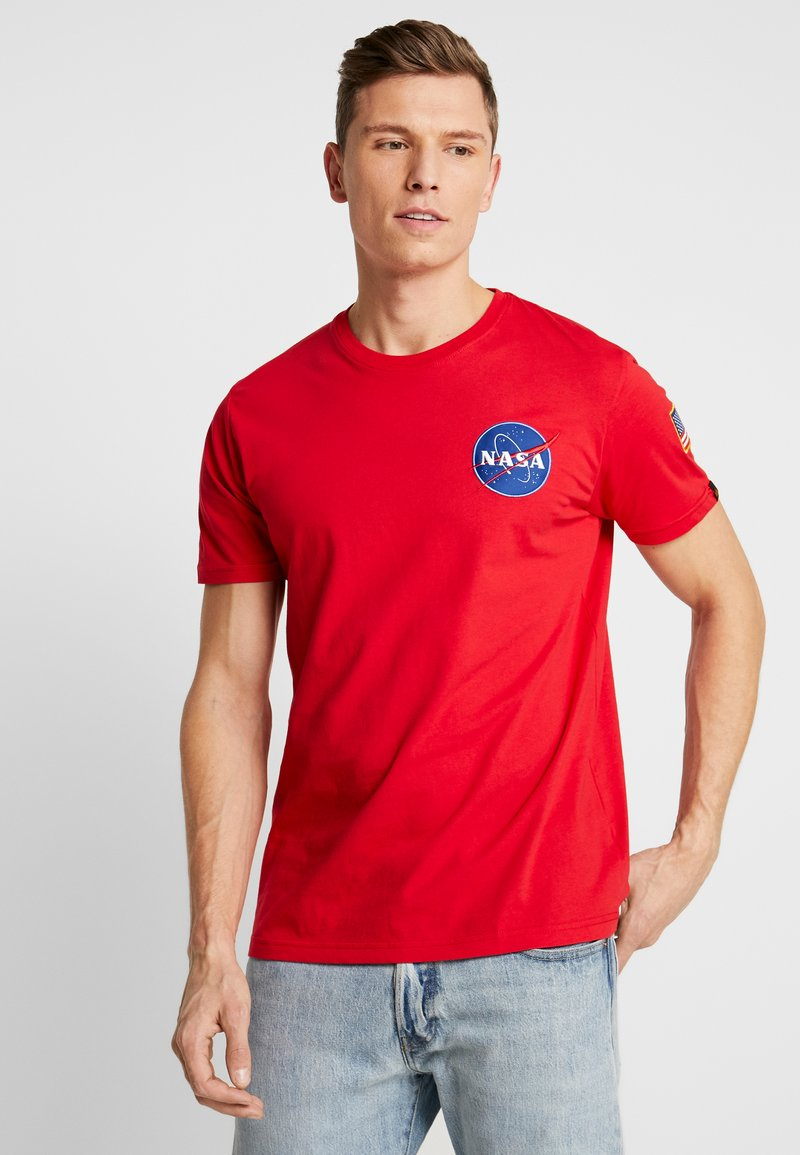 Alpha Industries - T-shirt con stampa - speed red
