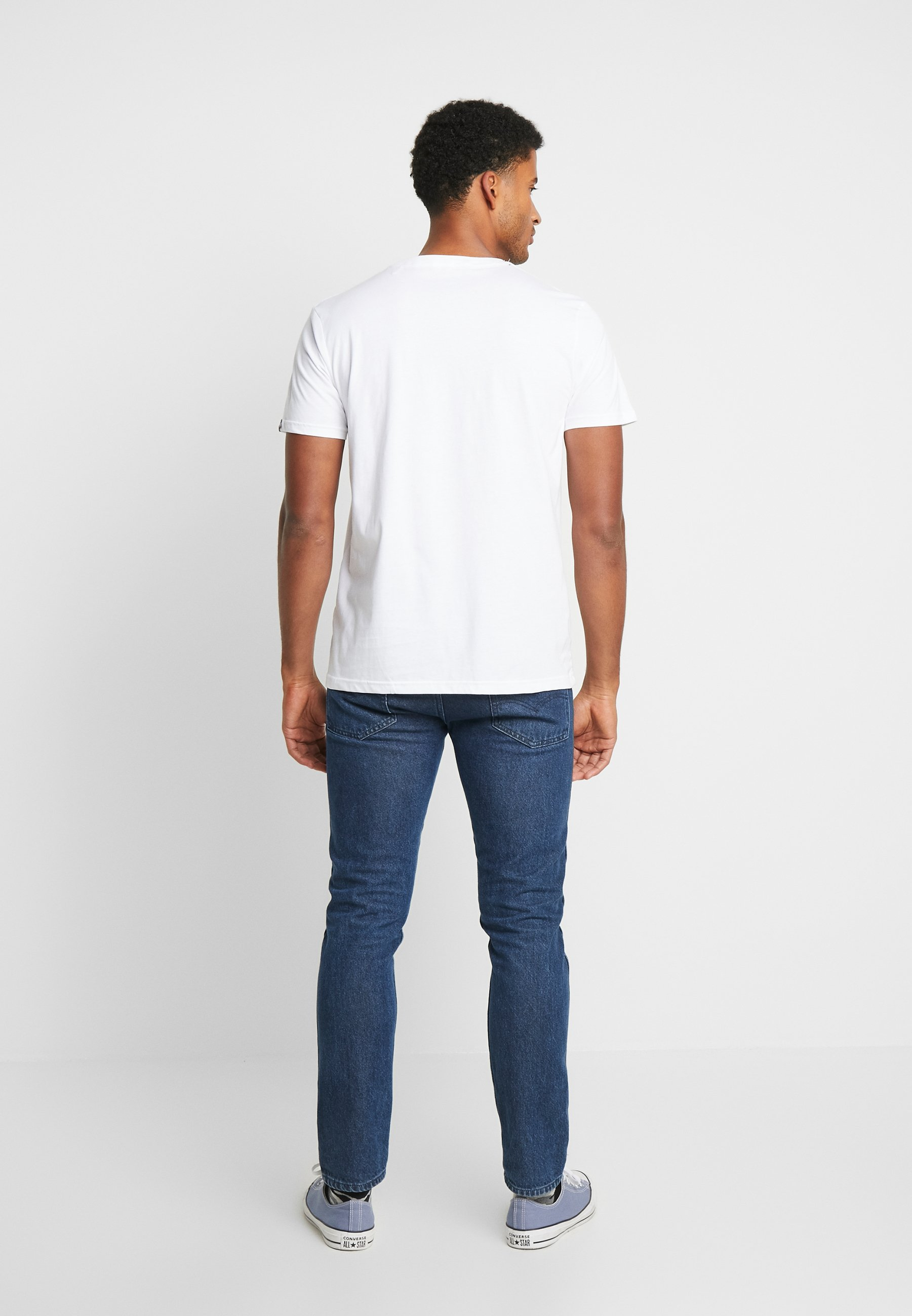 Alpha Industries T-shirt Med Print - White
