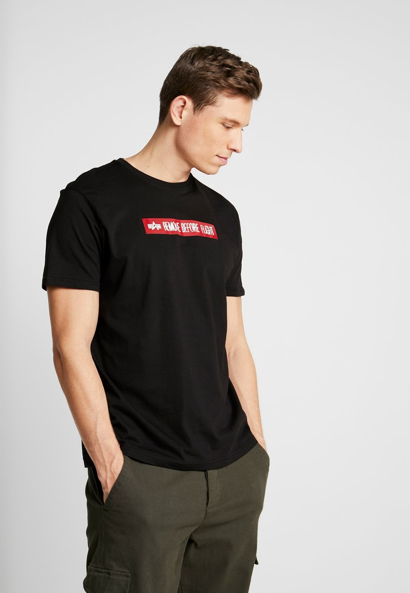 Alpha Industries - T-shirt con stampa - black