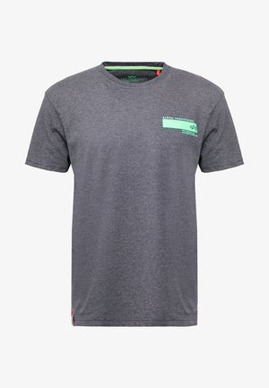 Print T-shirt - charcoal heather