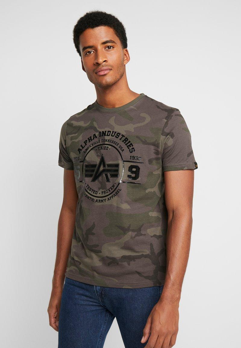Alpha Industries - T-shirt print - dark olive