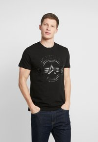 Alpha Industries - T-shirt con stampa - black - 0