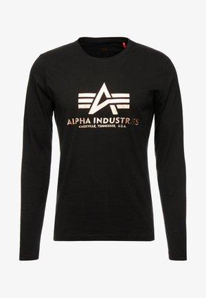 BASIC  - T-shirt à manches longues - black/gold