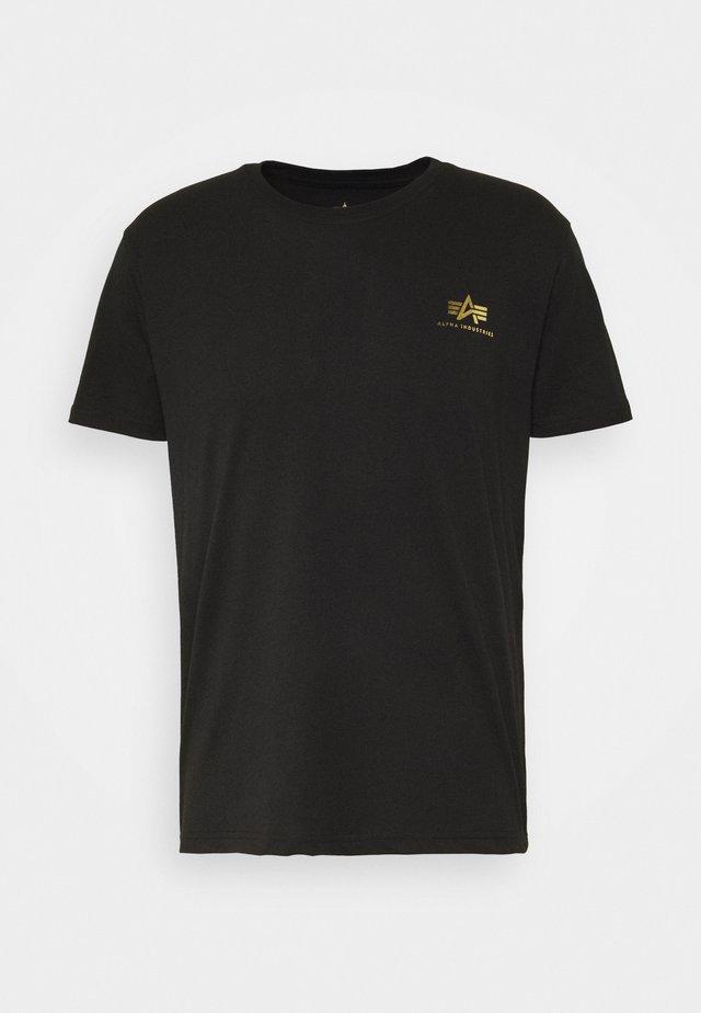 BASIC SMALL LOGO - T-shirt basic - black/yellow gold