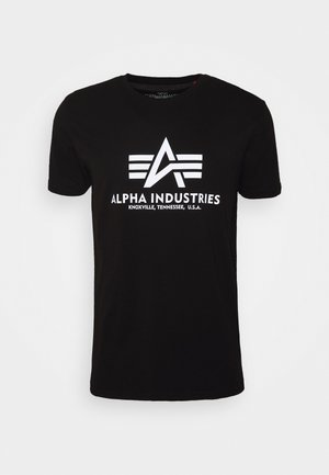 BASIC REFLECTIVE - T-shirts med print - black