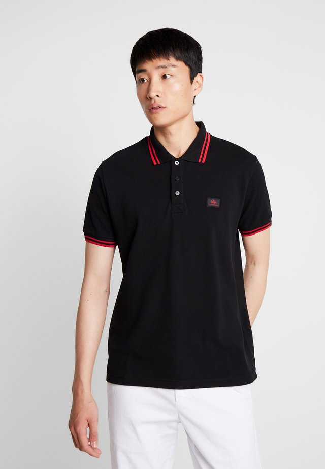 TWIN STRIPE NEW - Poloshirt - black/red