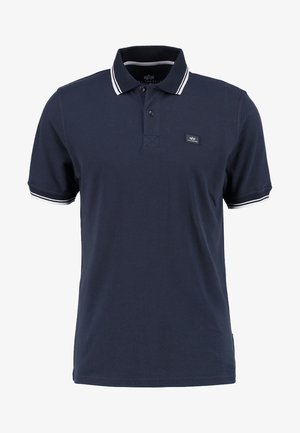 TWIN STRIPE NEW - Poloshirt - navy/white