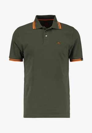 TWIN STRIPE NEW - Polo shirt - dark oliv