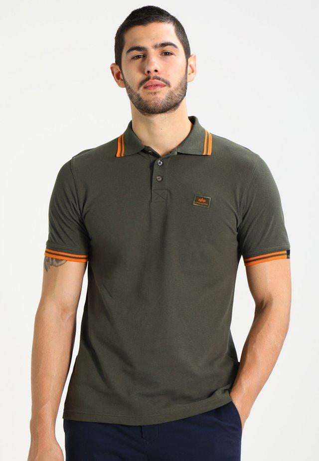 TWIN STRIPE NEW - Poloshirt - dark oliv