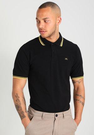 TWIN STRIPE NEW - Koszulka polo - black/yellow