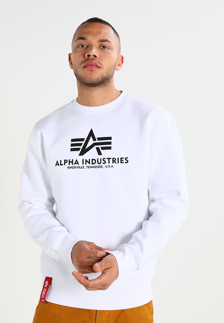 Alpha Industries - BASIC SWEATER - Sweatshirt - weiss