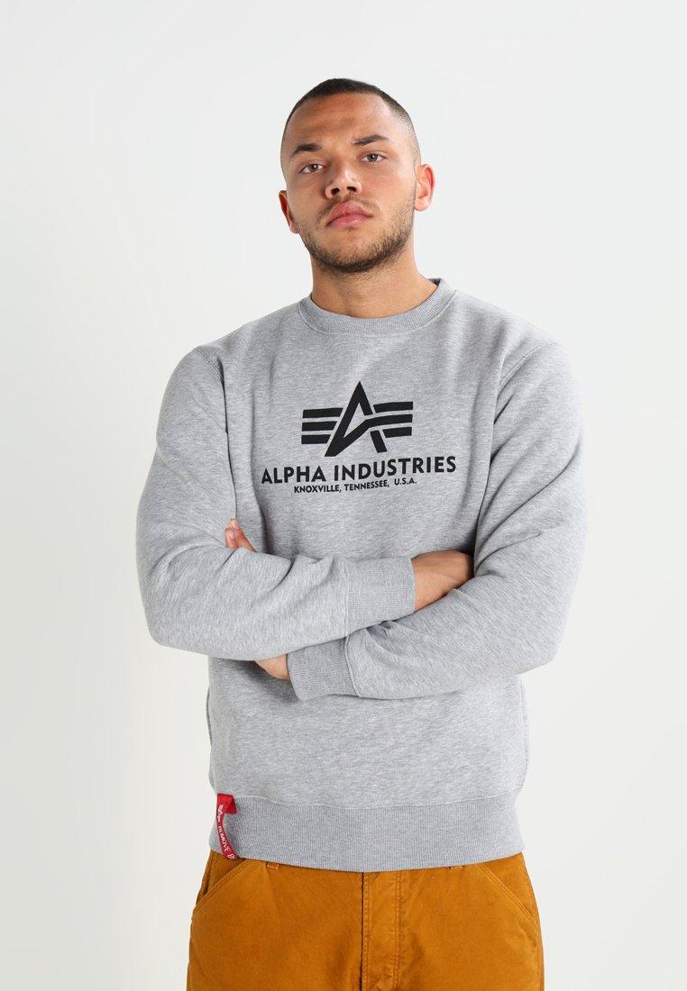 Alpha Industries - BASIC SWEATER - Sweatshirt - grey heather