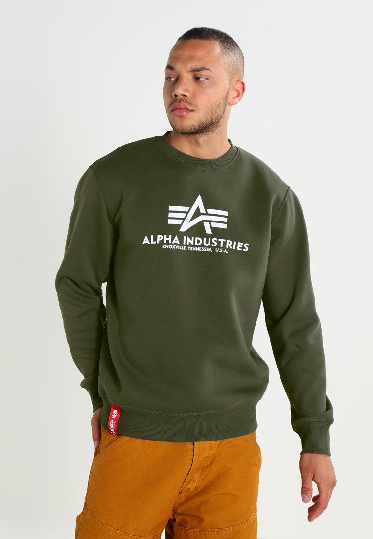 Alpha Industries - BASIC SWEATER - Sweatshirt - dark green