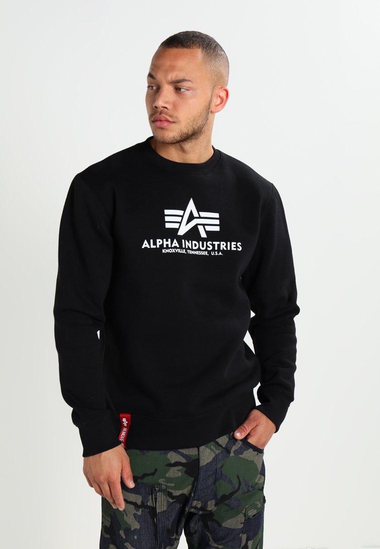 Alpha Industries - BASIC SWEATER - Felpa - black