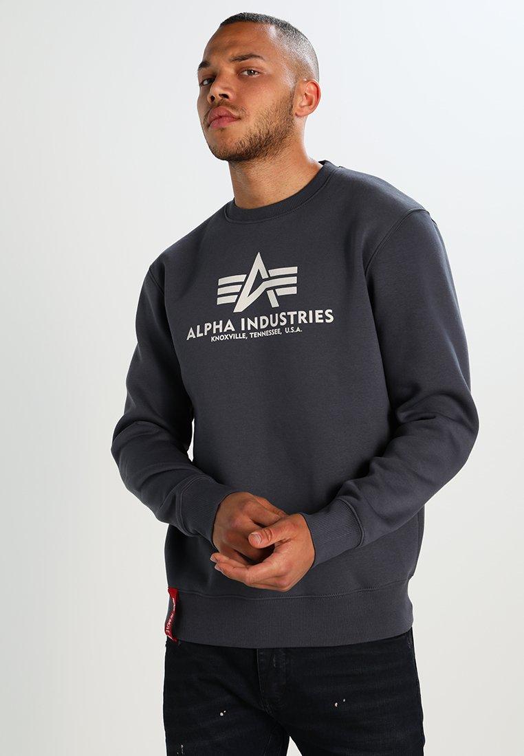 Alpha Industries - BASIC SWEATER - Sweatshirt - grey black