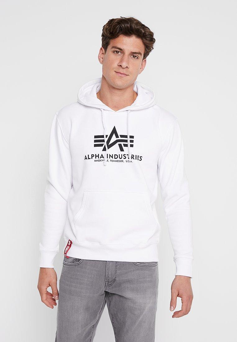Alpha Industries Bluza z kapturem - white