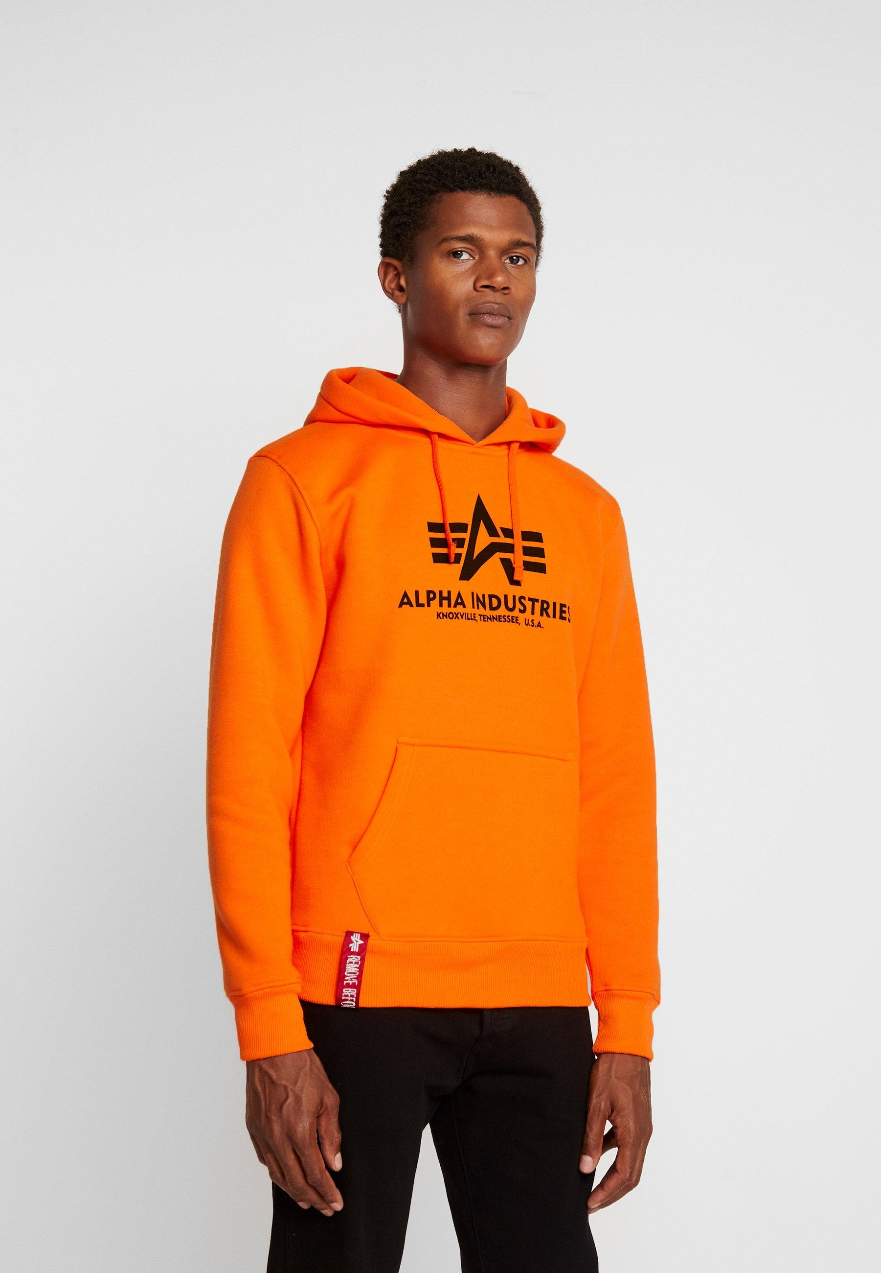 Alpha Industries Bluza z kapturem - neon orange