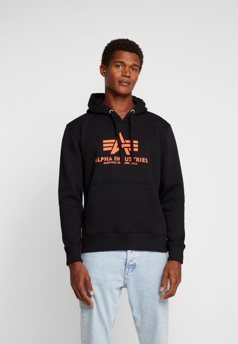 Alpha Industries - Sweat à capuche - black neon orange