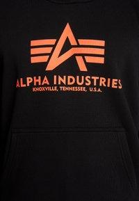 Alpha Industries - Luvtröja - black neon orange - 5