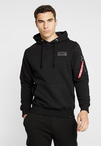 Alpha Industries - BACK PRINT HOODY - Hættetrøjer - black - 2