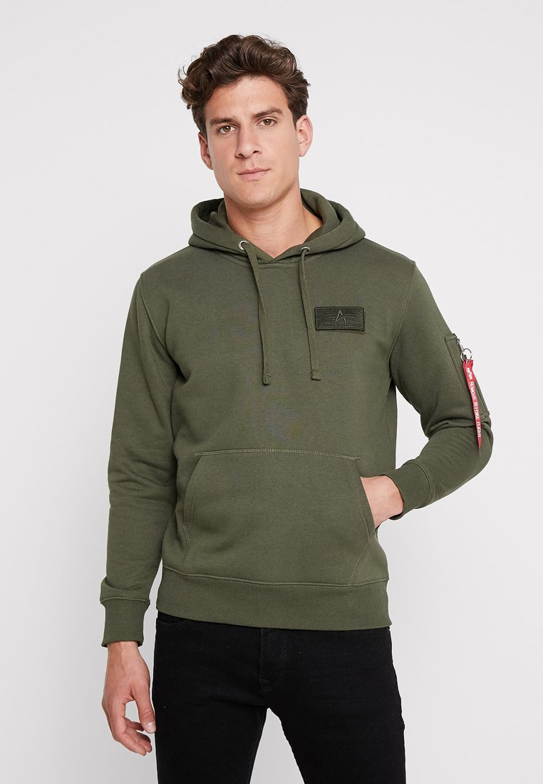 Alpha Industries - Hættetrøjer - dark green