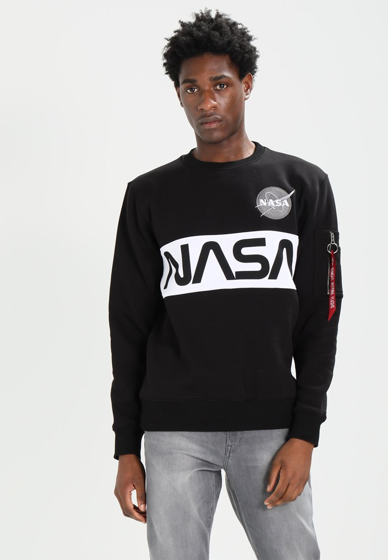 Alpha Industries - NASA INLAY  - Sudadera - black