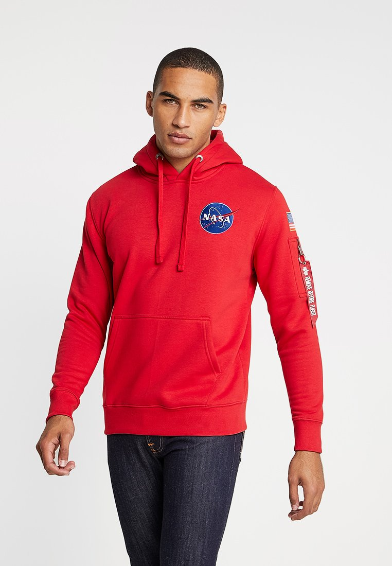 Alpha Industries - Felpa con cappuccio - speed red