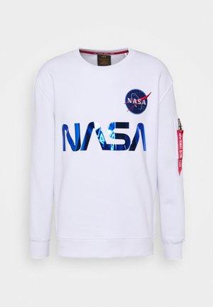NASA REFLECTIVE SWEATER - Sweatshirt - white/blue