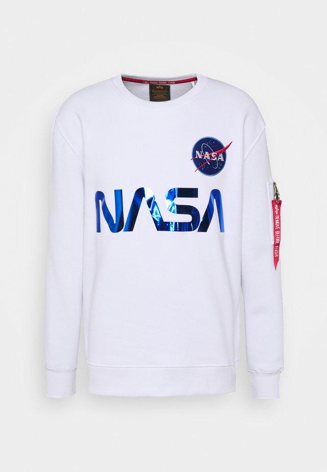 NASA REFLECTIVE SWEATER - Collegepaita - white/blue