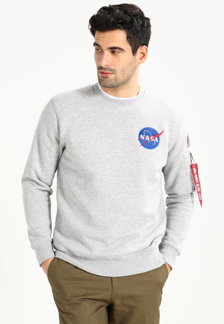 Alpha Industries - NASA - Sweatshirt - greyheather