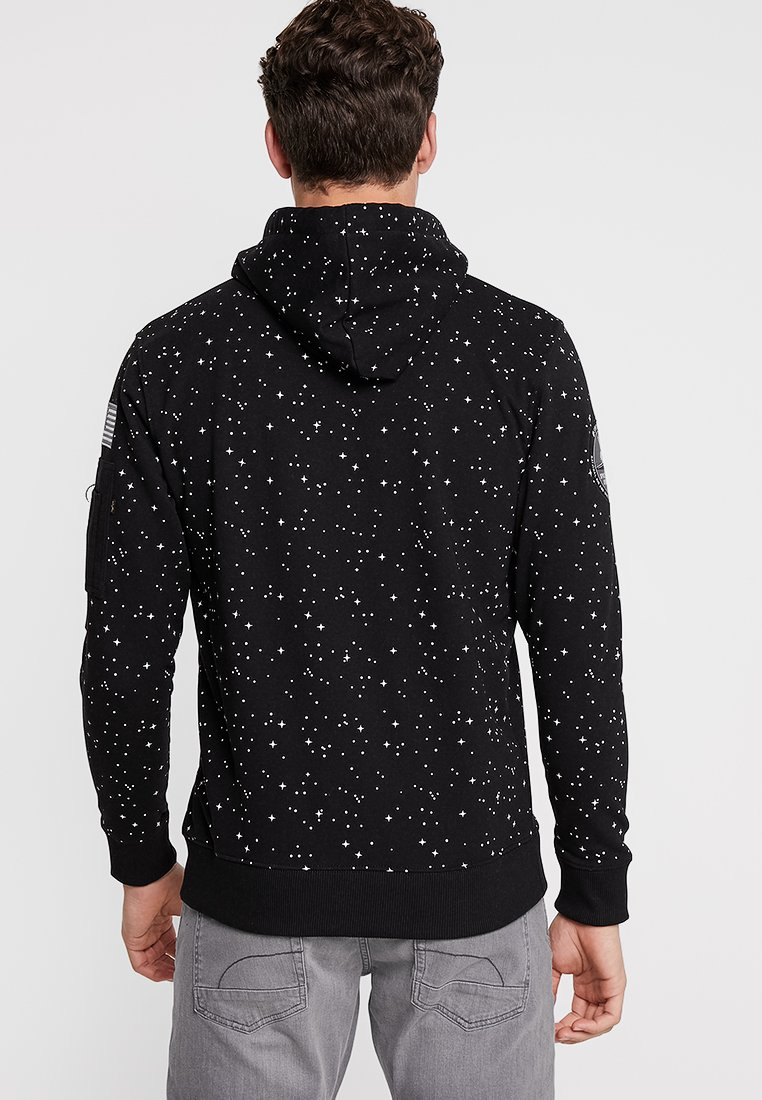 Alpha Industries NASA STARRY HOODY - Bluza z kapturem - schwarz