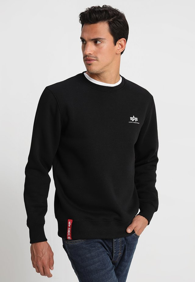 BASIC SMALL LOGO - Collegepaita - black