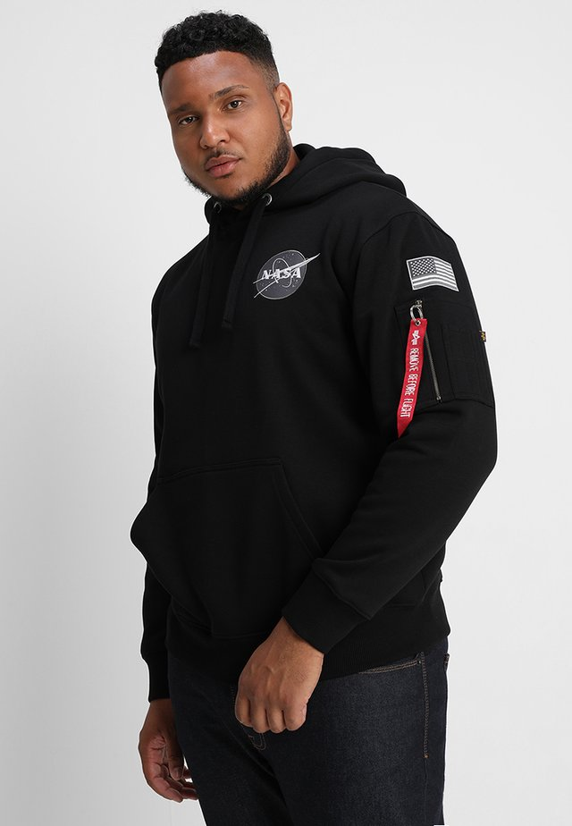 SPACE SHUTTLE HOODY - Jersey con capucha - black
