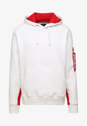 INLAY TAPE HOODYEXCLUSIV - Sweat à capuche - white
