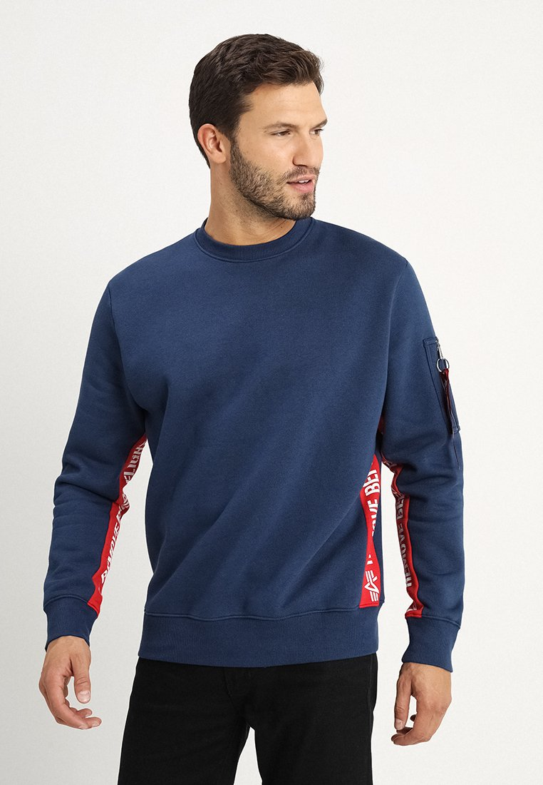 Alpha Industries - INLAY TAPE - Sweater - new navy