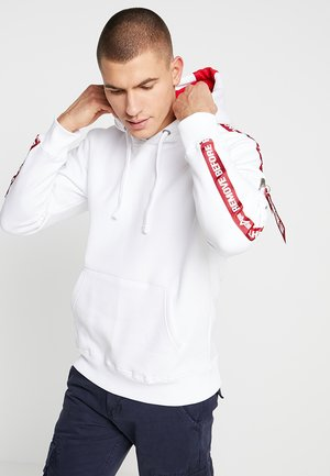 TAPE HOODY EXCLUSIV - Sweat à capuche - white