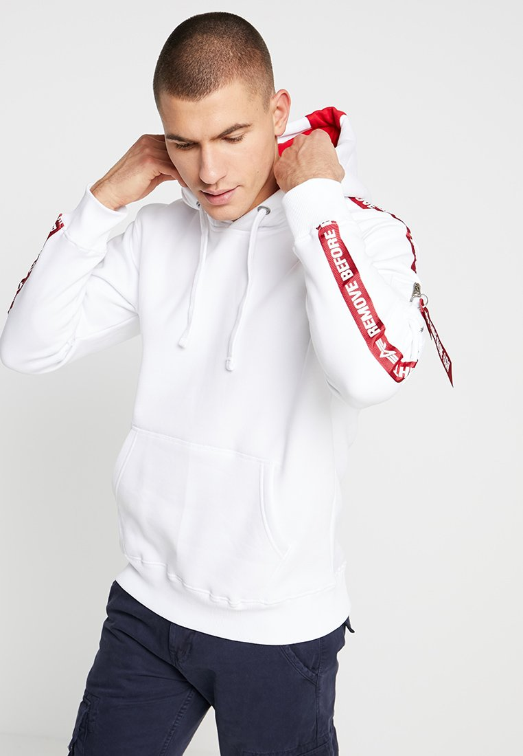 Alpha Industries - TAPE HOODY EXCLUSIV - Hoodie - white
