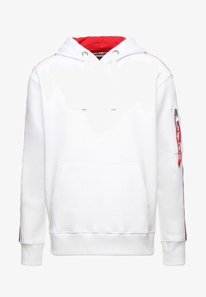 TAPE HOODY EXCLUSIV - Luvtröja - white