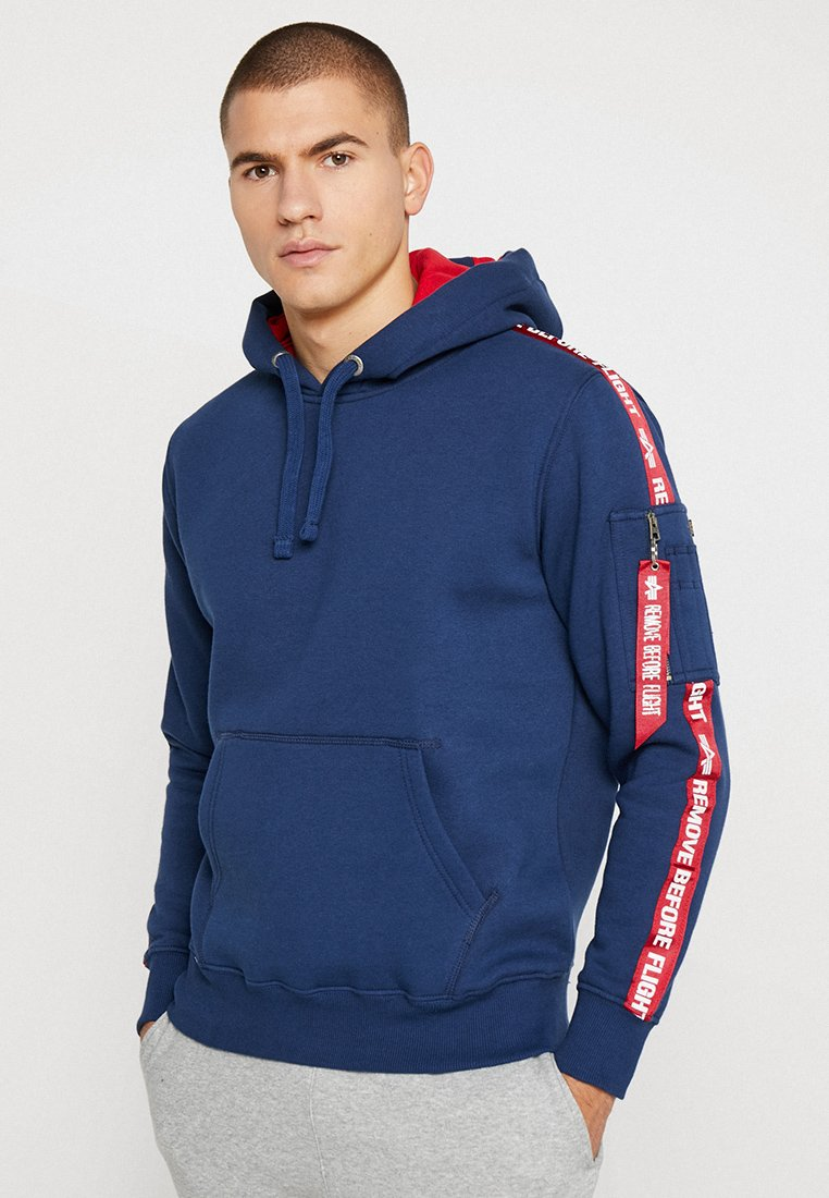 Alpha Industries - TAPE HOODY EXCLUSIV - Hoodie - new navy