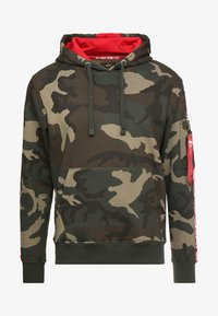 Alpha Industries - TAPE HOODY EXCLUSIV - Hoodie - woodland camo - 4