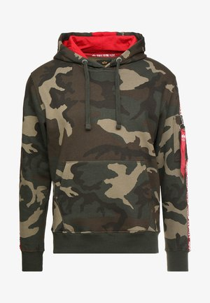 TAPE HOODY EXCLUSIV - Hættetrøjer - woodland camo