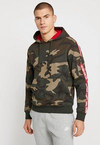 Alpha Industries - TAPE HOODY EXCLUSIV - Hoodie - woodland camo - 0
