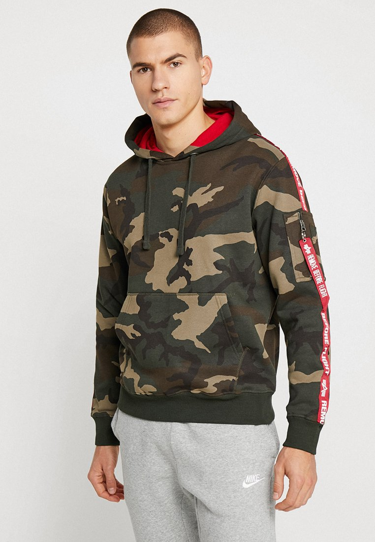Alpha Industries - TAPE HOODY EXCLUSIV - Hoodie - woodland camo
