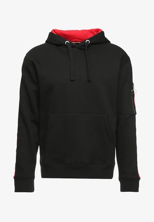 TAPE HOODY EXCLUSIV - Sweat à capuche - black